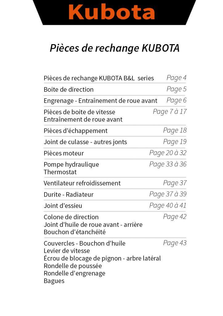 pièces détachées kubota