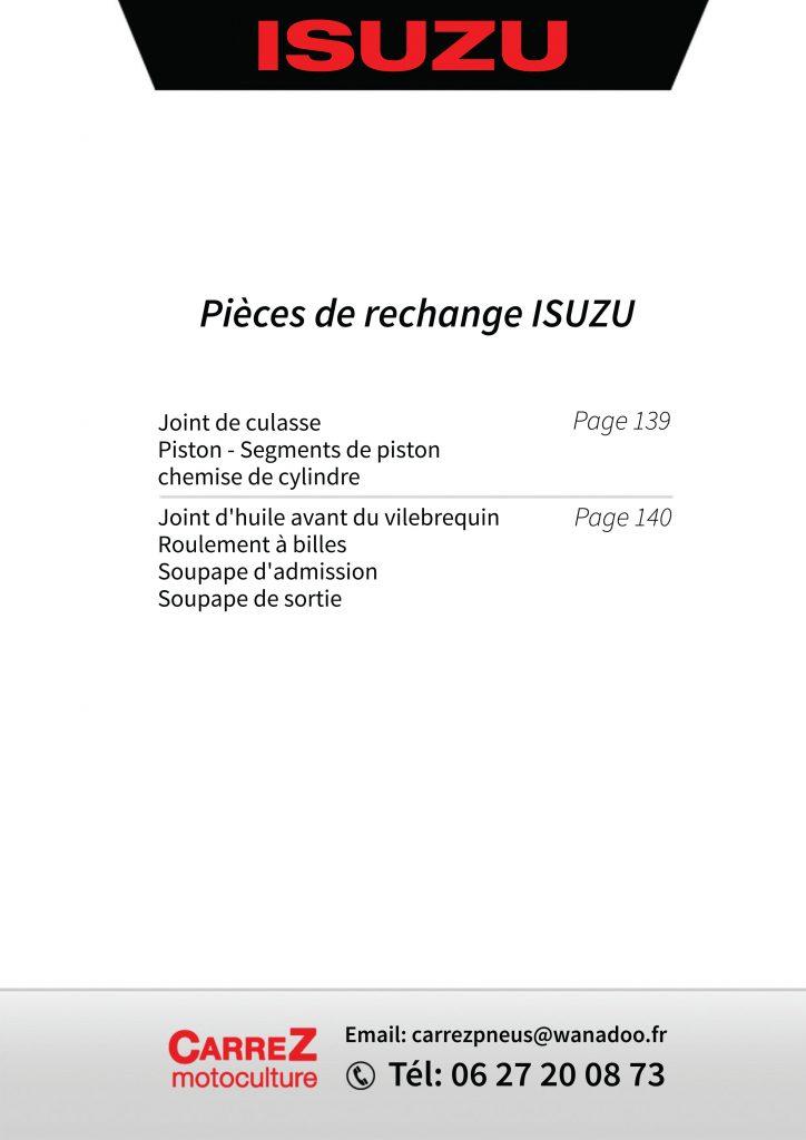 Catalogue pièces isuzu