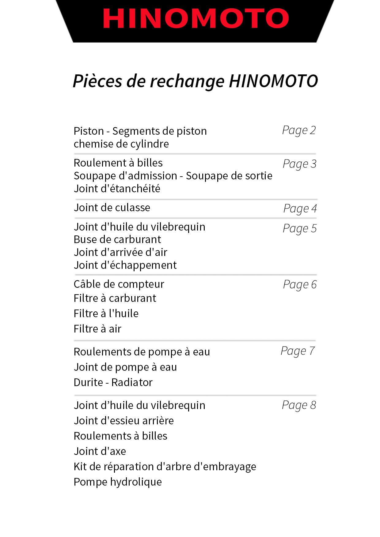 pieces Hinomoto